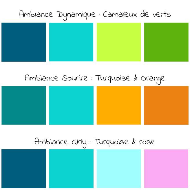 Déclinaison de couleurs pour la déco : inspirations déjantées en turquoise !