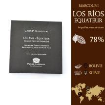 Chocolat Marcolini : Fiche Los Rios Equateur : 78% de caco.